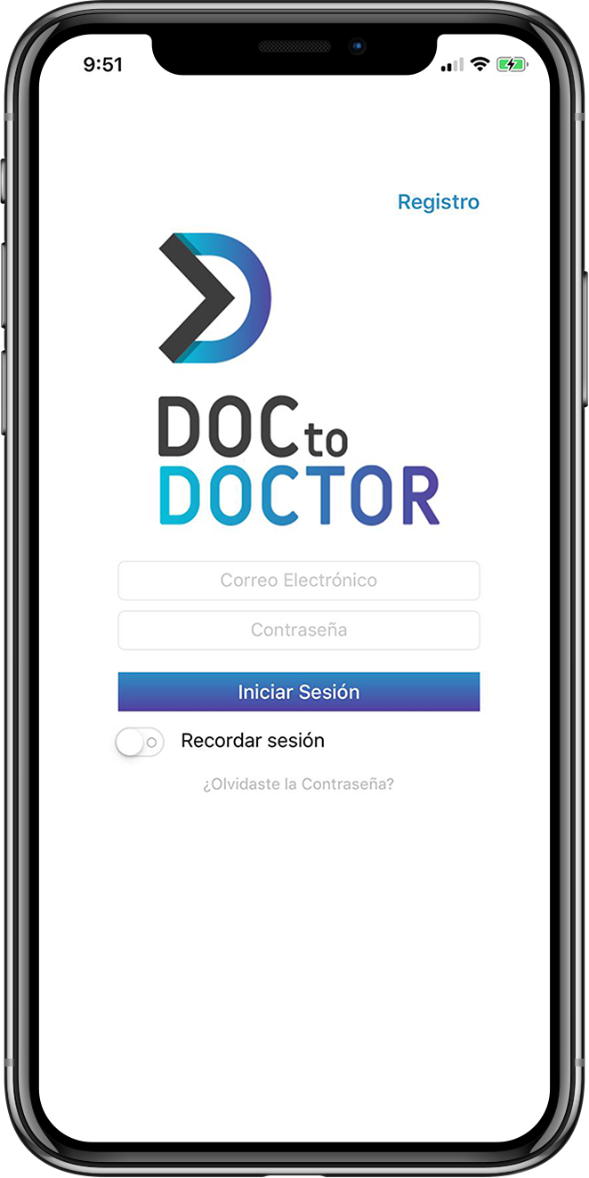 DoctoDoctor App on Iphone mockup